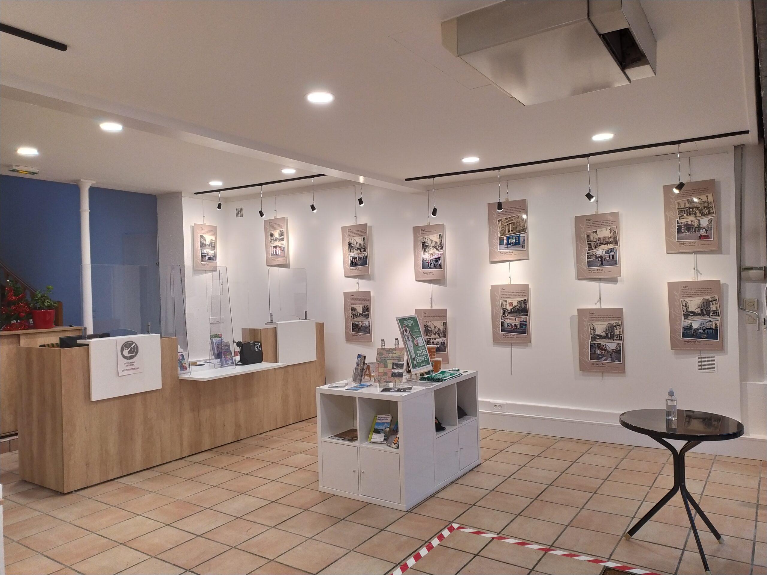 Salle d'expositions à l'Office de tourisme de Nanterre